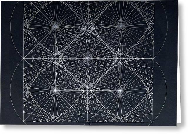 Greeting Card featuring the drawing Plancks Blackhole by Jason Padgett
