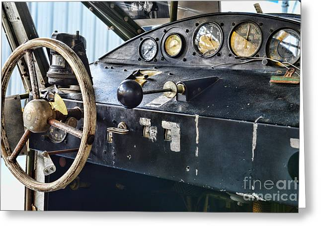 Plane Areocar Control Panel Greeting Card by Paul Ward