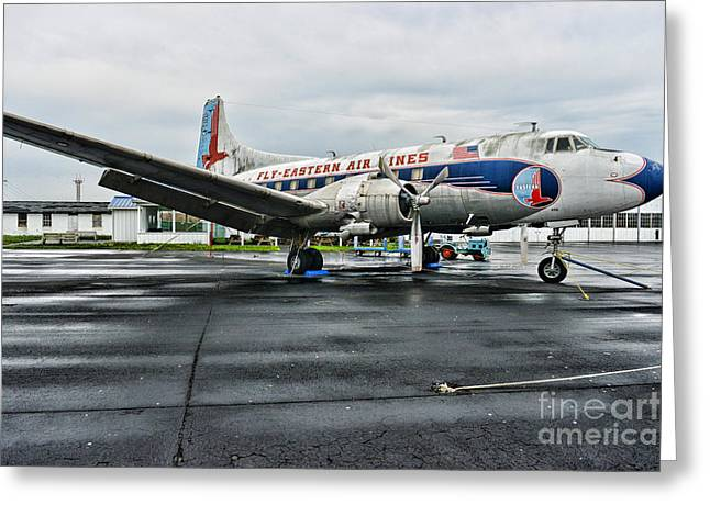 Plane On The Tarmac Greeting Card by Paul Ward