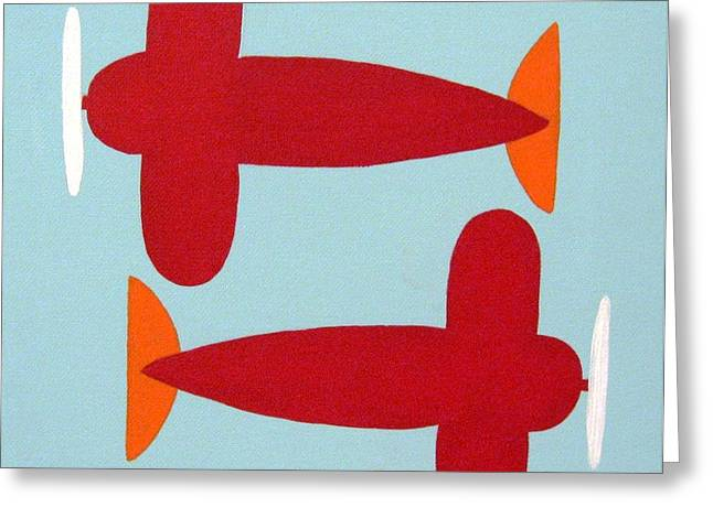 Planes  Greeting Card by Graciela Castro