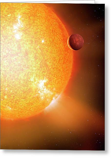 Planet And Parent Star Greeting Card