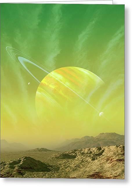 Planet Around Upsilon Andromedae Greeting Card by Mark Garlick