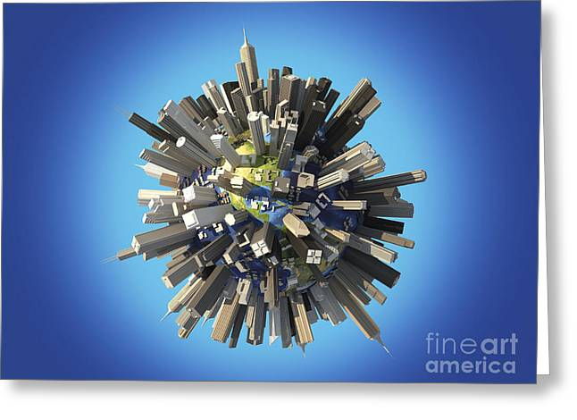 Planet Earth Covered By Huge Greeting Card
