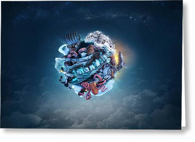 Planet Inlandsis Greeting Card by Robert Palmer