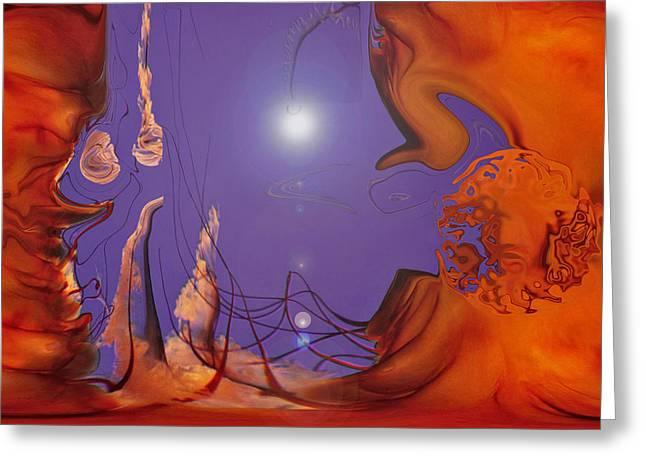Planet Jelly Greeting Card by Linda Sannuti