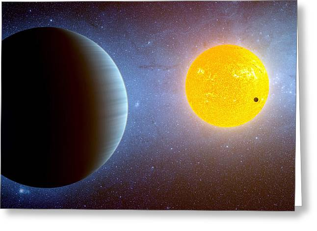 Planet Kepler10 Stellar Family Portrait Greeting Card by Movie Poster Prints