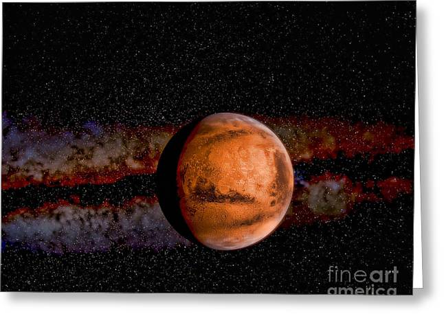 Planet - Mars - The Red Planet Greeting Card by Paul Ward