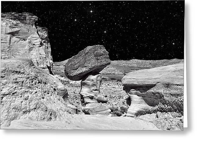 Planet Oz - Southwest Surreal Landscape Greeting Card by Vlad Bubnov