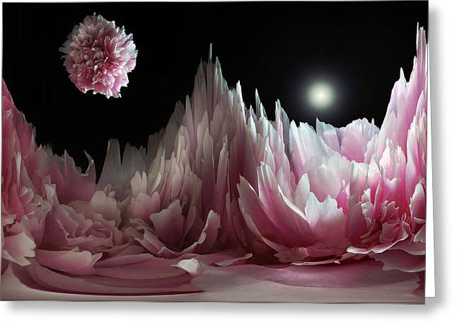 Planet Peony  Greeting Card