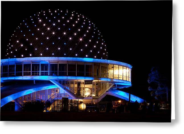 Planetarium Greeting Card by Silvia Bruno