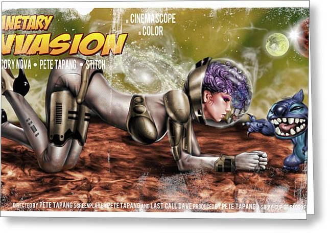 Planetary Invasion Greeting Card