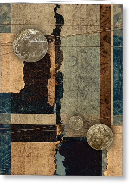 Planetary Shift #2 Greeting Card by Carol Leigh