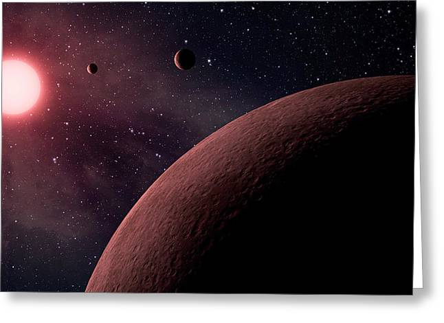 Planetary System Koi-961 Greeting Card by Movie Poster Prints