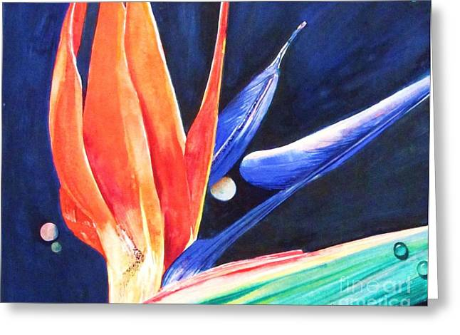 Planets And Dewdrops Greeting Card by Beth Fischer