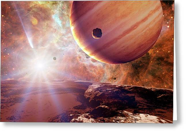 Planets In Ngc 2440 Planetary Nebula Greeting Card