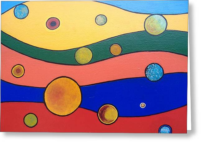 Planets Greeting Card by Steve  Hester
