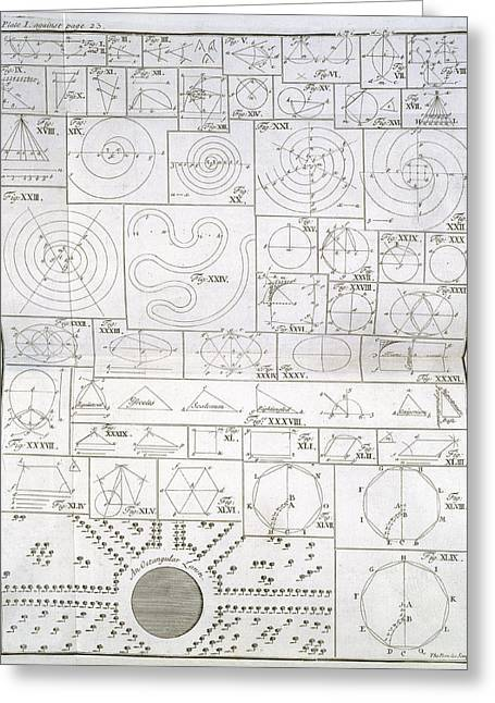 Plans Of Gardens Greeting Card