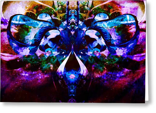 Plant Abstract Greeting Card by Dawn  Van Doorn