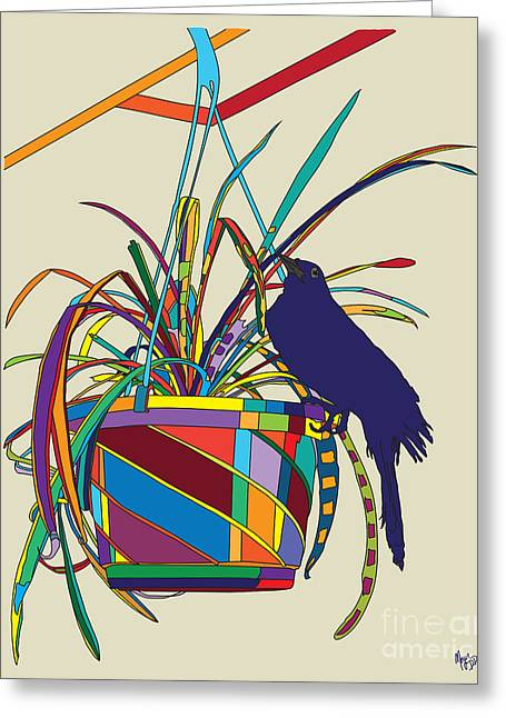 Plant Bird Pop Greeting Card