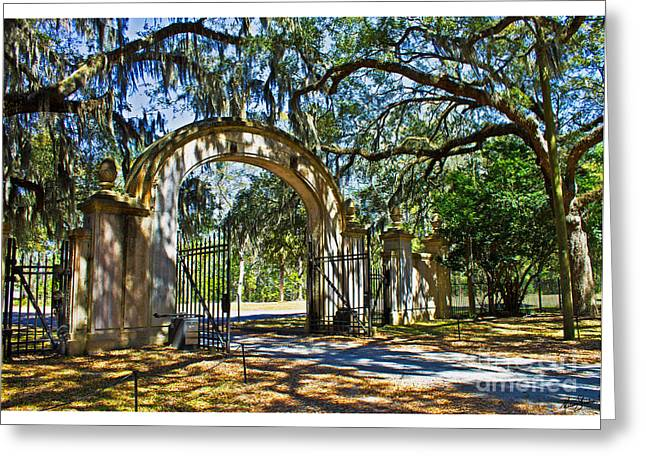 Plantation Gate Greeting Card