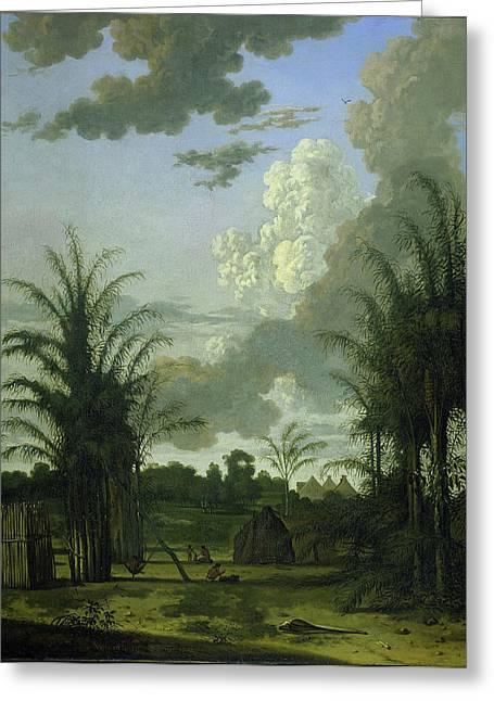 Plantation In Suriname, Dirk Valkenburg Greeting Card by Litz Collection