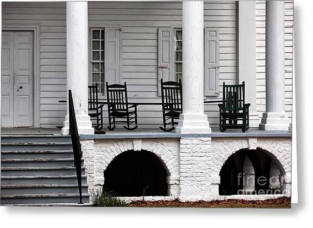 Plantation Porch Greeting Card by John Rizzuto