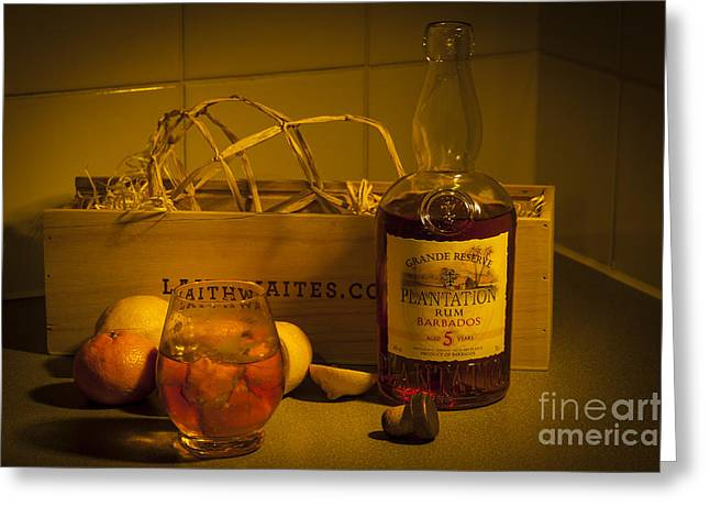 Plantation Rum Greeting Card by Donald Davis