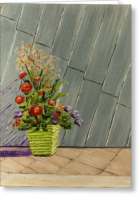 Planter On A Rooftop In Denver Greeting Card by Margaret Bobb