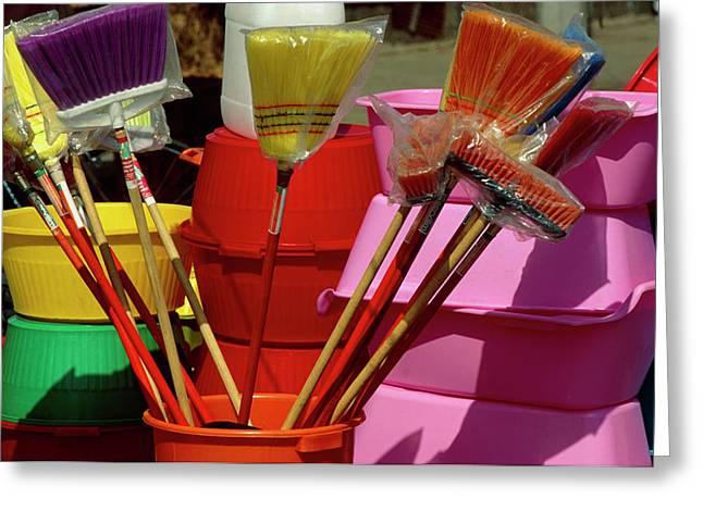 Plastic Household Harware: Buckets Greeting Card
