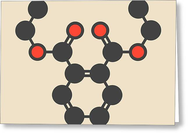 Plasticizer Molecule Greeting Card by Molekuul