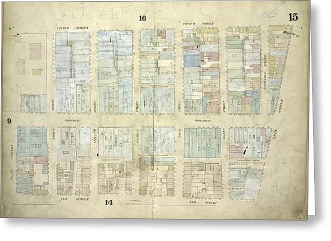 Plate 15 Map Bounded By Church Street, Canal Street, Elm Greeting Card