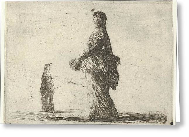 Plate 18 A Noblewoman Walking Towards Greeting Card