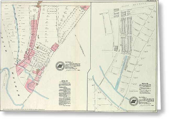Plate 4 Map No. 302 Bounded By Harlem River Greeting Card by Litz Collection