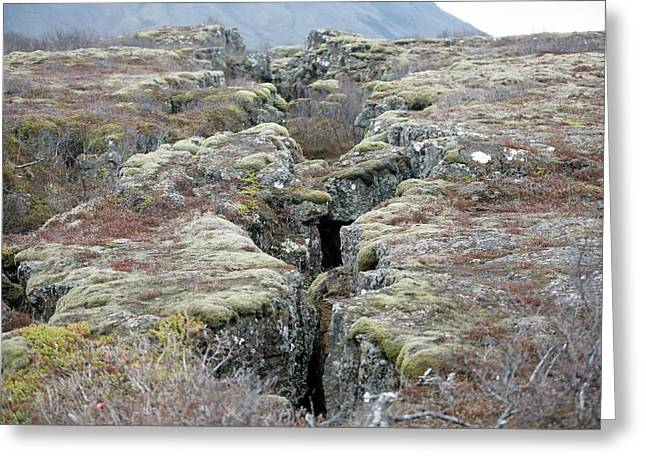 Plate Boundary Greeting Card by Dr P. Marazzi
