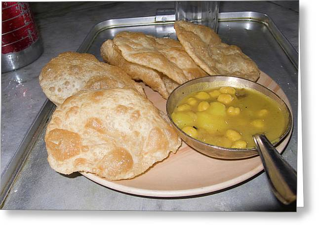 Plate Of Indian Fried Bread (nan Greeting Card
