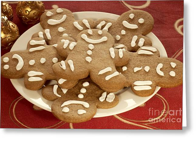 Plateful Of Gingerbread Cookies Greeting Card