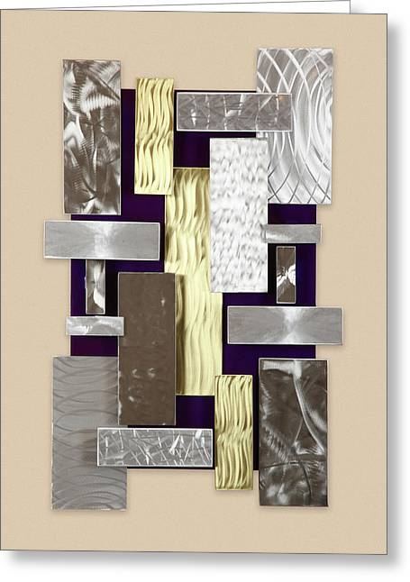 Plates Greeting Card by Rick Roth