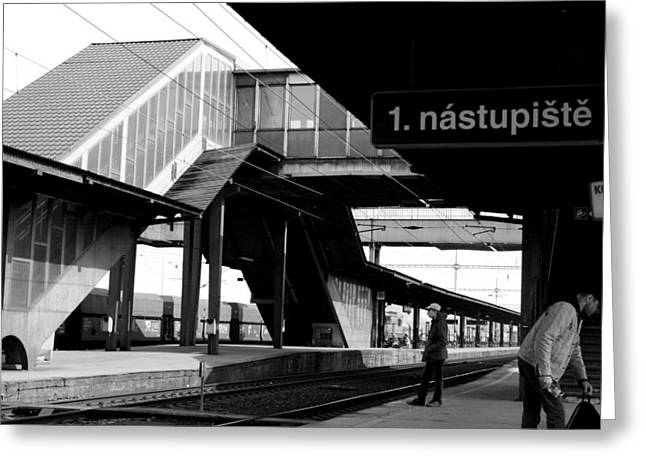 Greeting Card featuring the photograph Platform by Steve Godleski