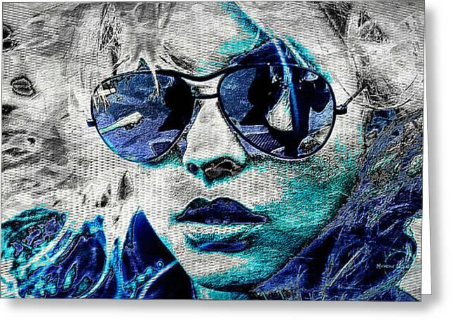 Platinum Blondie Greeting Card by Absinthe Art By Michelle LeAnn Scott