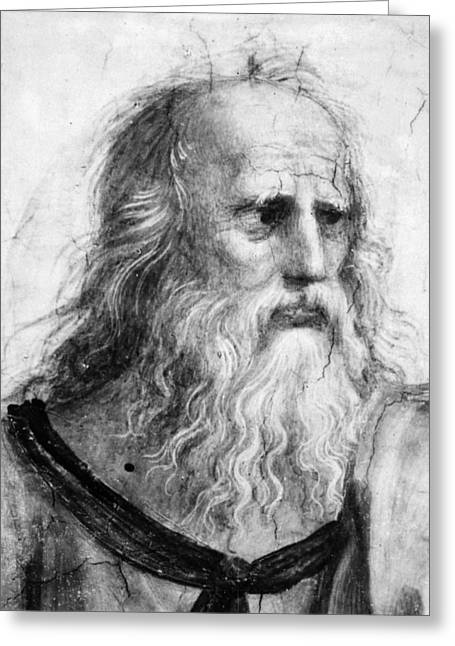 Plato (c427 B Greeting Card by Granger