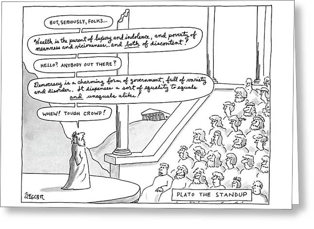 Plato The Standup Greeting Card