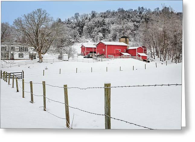 Platt Farm Greeting Card by Bill Wakeley