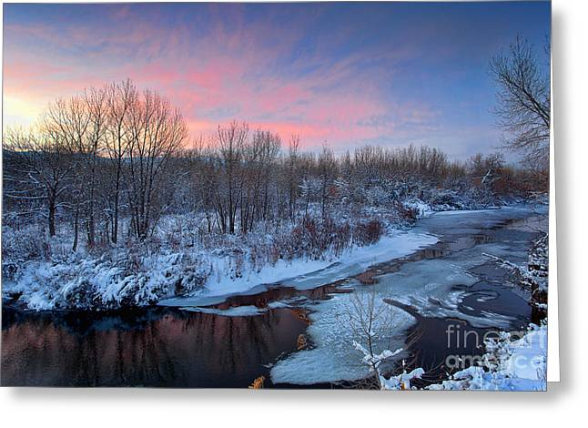 Platte River Winter Greeting Card by Jim Garrison