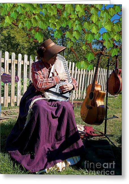 Play A Song For Me Greeting Card by Liane Wright