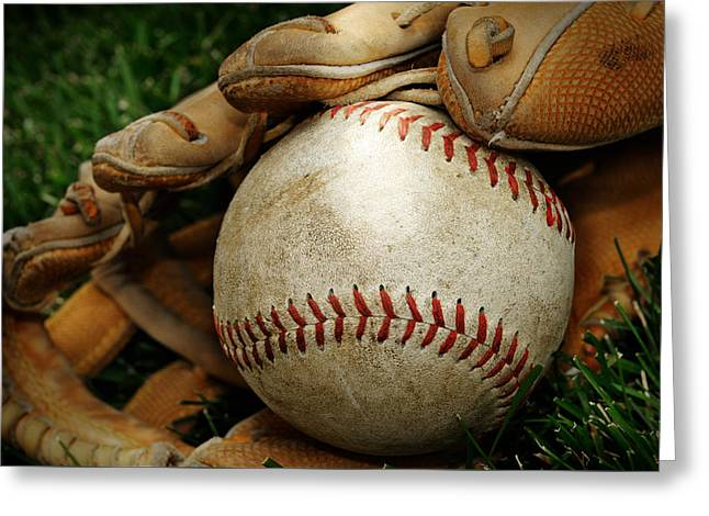 Play Ball Greeting Card by Norman Pogson