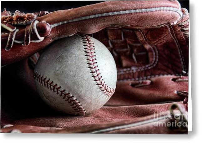 Play Ball Greeting Card by Peggy Hughes