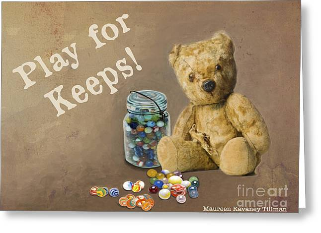 Play For Keeps - Marbles Greeting Card