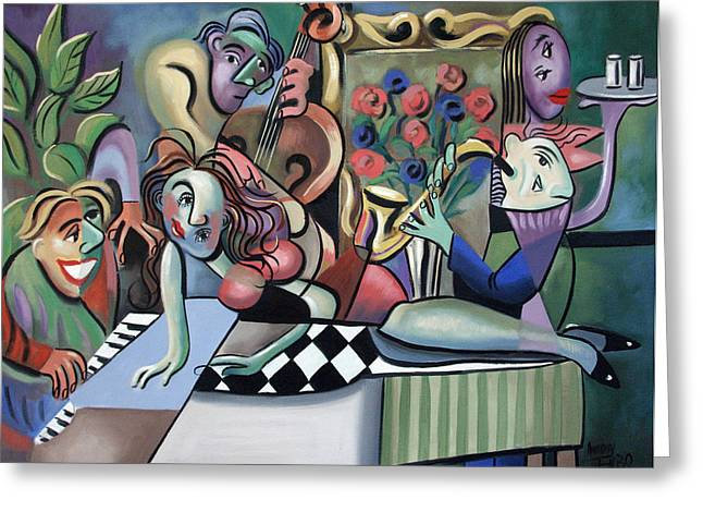 Play It Again Sam Greeting Card by Anthony Falbo