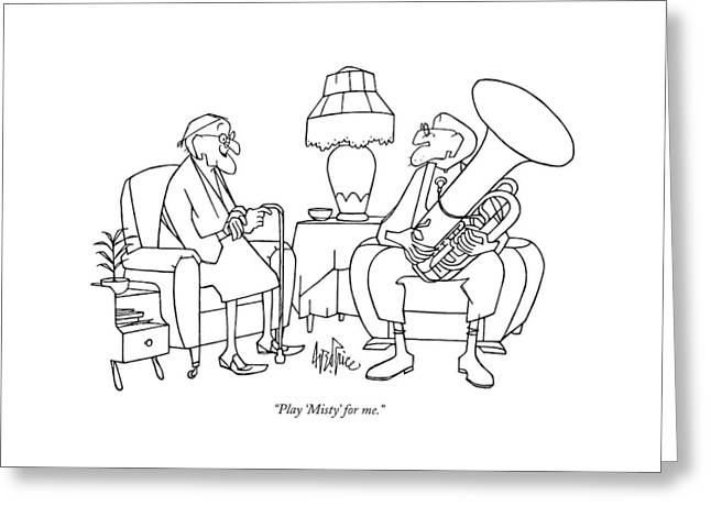 Play 'misty' For Me Greeting Card