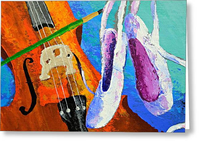 Play Paint Pointe Greeting Card by J Travis Duncan
